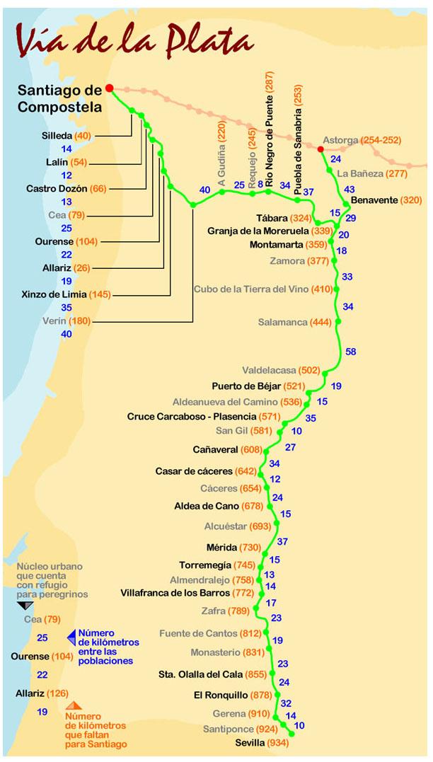 Vía De La Plata Camino Luz